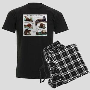 Otters of the World Men's Dark Pajamas
