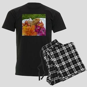 Floral beardie Men's Dark Pajamas