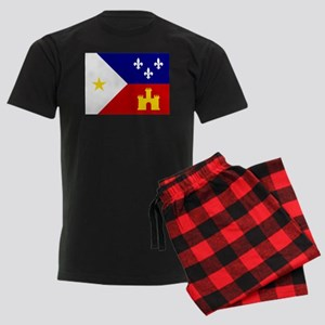 Acadiana Flag Louisiana Men's Dark Pajamas