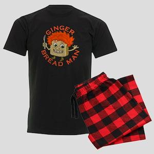 Funny Gingerbread Man Men's Dark Pajamas