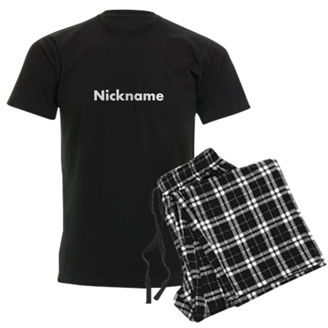 Customizable nickname Men's Dark Pajamas