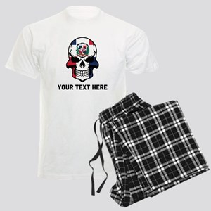 Dominican Flag Skull (Custom) Pajamas