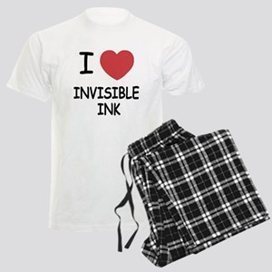 I heart invisible ink Men's Light Pajamas
