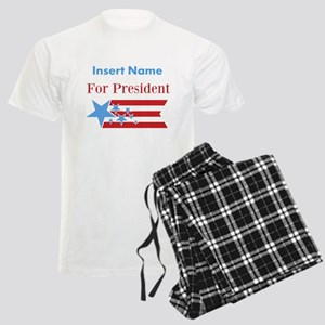 Personalized For President Men's Light Pajamas