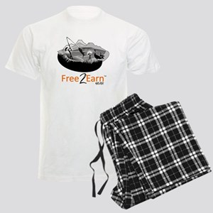 Fishing and Free 2 Earn 4Ever Men's Light Pajamas
