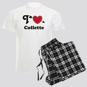 Personalized Couples Heart Men's Light Pajamas
