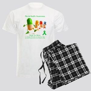 Mental Health Awareness Men's Light Pajamas