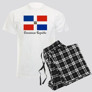 Dominican Republic Flag Desig Men's Light Pajamas