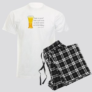 Beer is Proof... Men's Light Pajamas