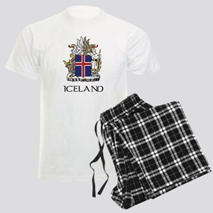 Iceland Coat of Arms Men's Light Pajamas