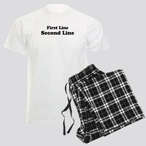 2lineTextPersonalization Men's Light Pajamas