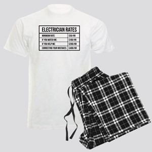 Electrician Rates Men's Light Pajamas