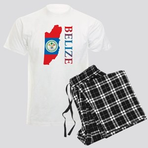 Map Of Belize Men's Light Pajamas