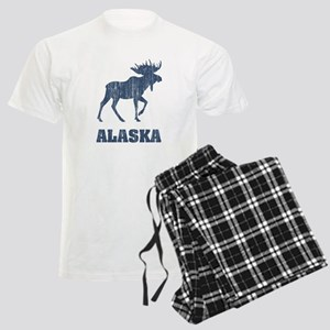 Retro Alaska Moose Men's Light Pajamas