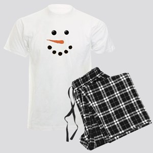 Cute Snowman Face Men's Light Pajamas