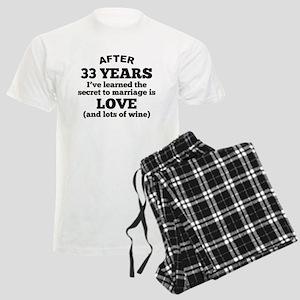 33 Years Of Love And Wine Pajamas