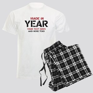 Birthday Made In Your Text Distressed Pajamas