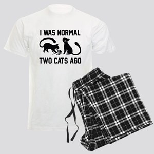 I Was Normal Two Cats Ago Men's Light Pajamas