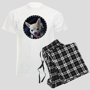 Personalized Paw Print Men's Light Pajamas