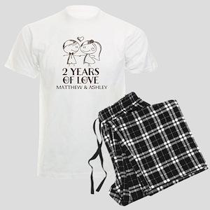 2nd Wedding Anniversary Personalized Pajamas