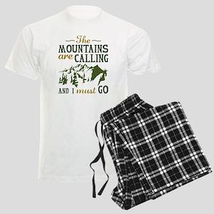 The Mountains Are Calling Men's Light Pajamas