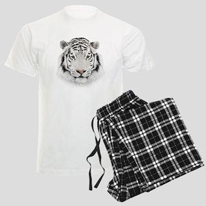 White Tiger Head Men's Light Pajamas