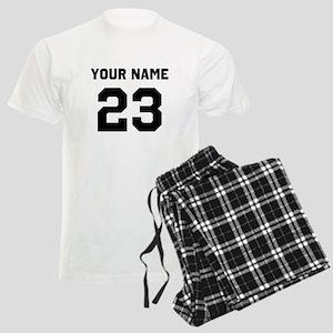 Customize sports jersey numbe Men's Light Pajamas