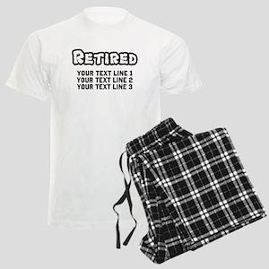 Retirement Text Personalized Men's Light Pajamas