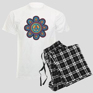 Hippie Peace Flower Men's Light Pajamas