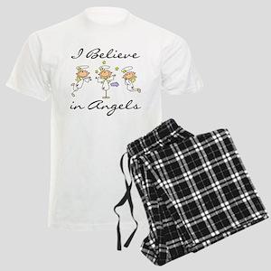 I Believe in Angels Men's Light Pajamas