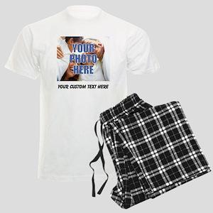 Custom Photo and Text Men's Light Pajamas