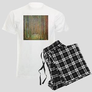 Gustav Klimt Pine Forest Men's Light Pajamas
