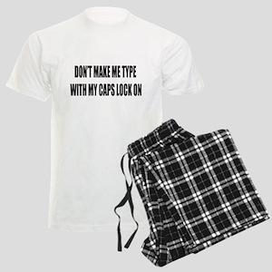 Caps lock on Men's Light Pajamas