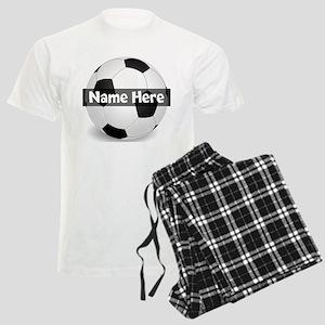 Personalized Soccer Ball Men's Light Pajamas