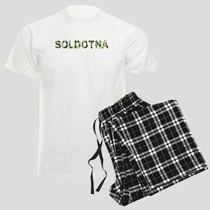 Soldotna, Vintage Camo, Men's Light Pajamas
