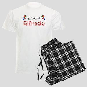 Alfredo, Christmas Men's Light Pajamas