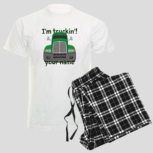 Personalized Im Truckin Men's Light Pajamas