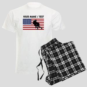 Custom Rugby Tackle American Flag pajamas