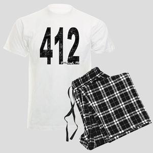 Distressed Pittsburgh 412 Pajamas