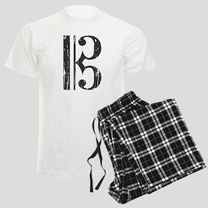 Distressed Alto Clef C-Clef Men's Light Pajamas