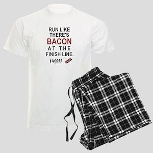 Will Run for Bacon Men's Light Pajamas