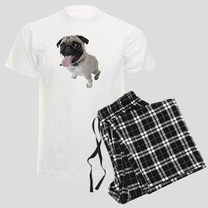 Pug Close Up Photo Men's Light Pajamas
