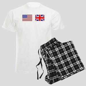 USA UK Flags for White Stuff Men's Light Pajamas