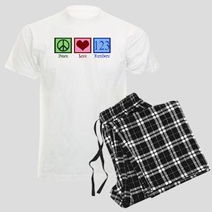 Peace Love Numbers Men's Light Pajamas