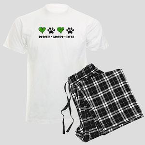 Rescue*Adopt*Love Men's Light Pajamas