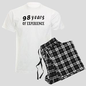 98 years birthday designs Men's Light Pajamas