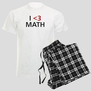 I <3 Math Men's Light Pajamas