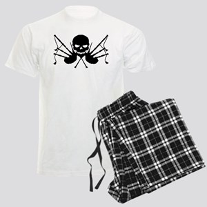 Skull & Crossdrones, Black Men's Light Pajamas