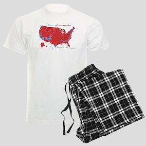 Trump vs Clinton Map Men's Light Pajamas