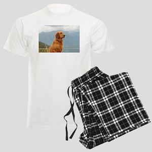 Golden Retriever Lake Men's Light Pajamas